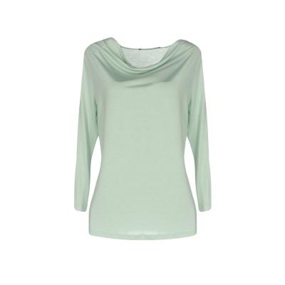レ コパン LES COPAINS T シャツ ライトグリーン 42 レーヨン 100% T シャツ
