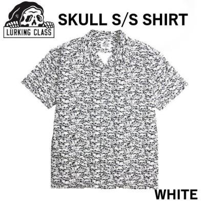 ラーキングクラス LURKING CLASSSKETCHY TANK スケッチータンク SKULL S/S SHIRT シャツ 半袖 アウトドア M〜XL WHITE