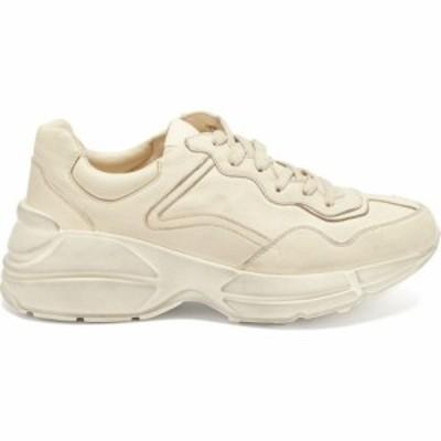 グッチ Gucci レディース スニーカー シューズ・靴 Rhyton leather trainers Cream