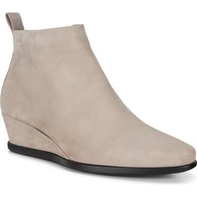 エコー ECCO レディース ブーツ ウェッジソール シューズ・靴 Shape 45 Wedge Bootie Grey Rose Nubuck Leather
