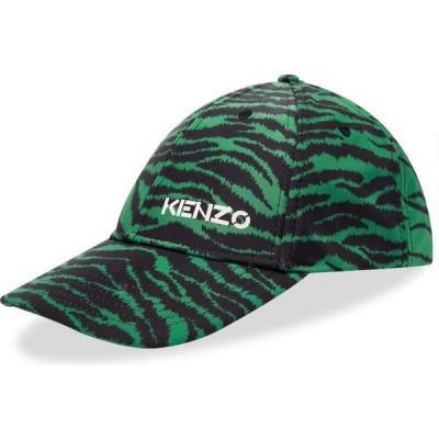ケンゾー Kenzo メンズ キャップ ベースボールキャップ 帽子 x Kansai Yamamoto Zebra Print Baseball Cap Grass Green