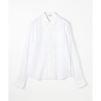(JAMES PERSE/ジェームス パース)リネン ロングスリーブ ポケットシャツ MJZ3376/メンズ 11ホワイト
