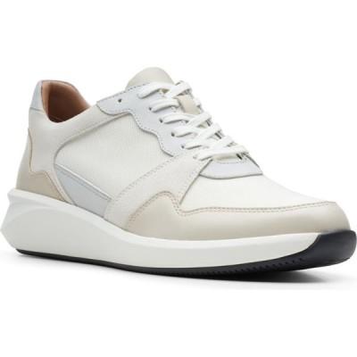 クラークス CLARKS レディース スニーカー レースアップ シューズ・靴 Un Rio Run Lace-Up Sneaker White Leather