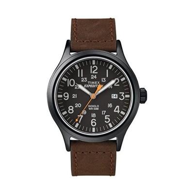 腕時計 タイメックス メンズ TW4B125009J Timex Men's TW4B12500 Expedition Scout 40mm Brown/Black Lea