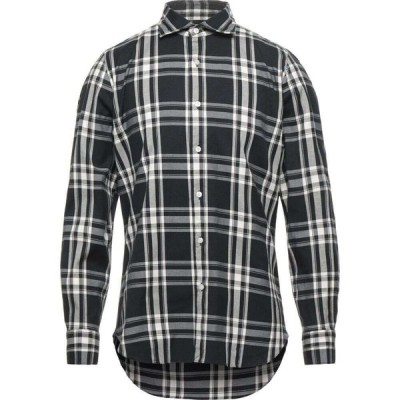 フィナモレ FINAMORE 1925 メンズ シャツ トップス Checked Shirt Black