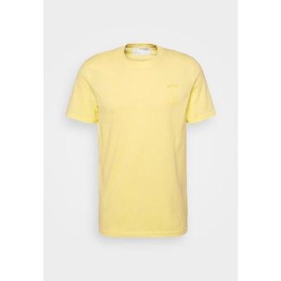 メンズ ファッション SLHCARTER O NECK TEE - Print T-shirt - mellow yellow