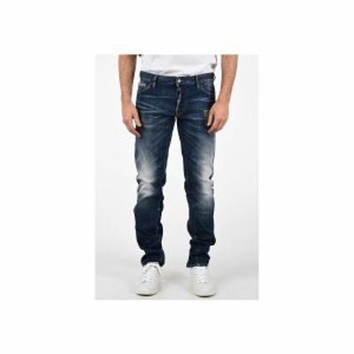 DSQUARED2/ディースクエアード Blue メンズ 18cm Stonewashed SLIM FIT Jeans dk