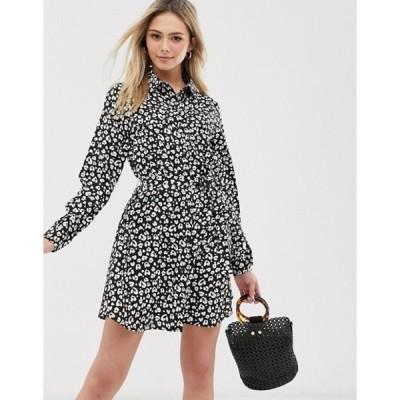 ブレーブソウル レディース ワンピース トップス Brave Soul alenia shirt dress in animal print