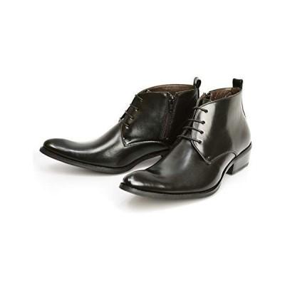 ジーノ ビジネスシューズ ブーツ メンズ チャッカーブーツ ショート サイドゴアブーツ レースアップ ジッパー ドレスシューズ 革靴 メンズ