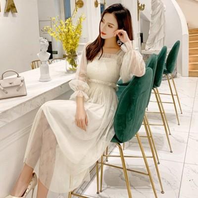 ドレスワンピース 安い 40代 20代 30代 ワンピース レディース ドレスコード 女性 フォーマル パーティードレス 韓国 ロング 袖あり ベージュ