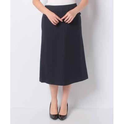 (allureville/アルアバイル)ウールライクフラップAラインスカート/レディース ネイビー