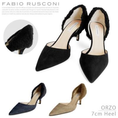 『Fabio Rusconi-ファビオルスコーニ-』ORZO Camoscio/Merinos [レディース パンプス ファーライン]