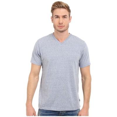 スレッズ フォー ソート Threads 4 Thought メンズ Tシャツ Vネック トップス Baseline Tri-Blend V-Neck Tee China Blue