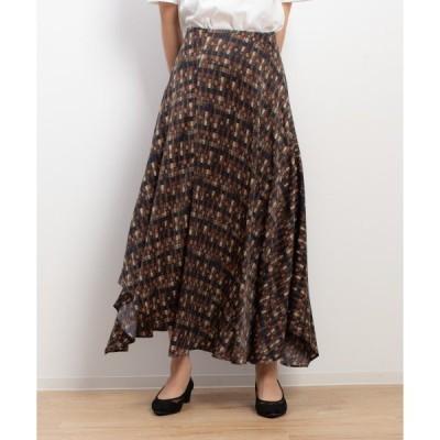 スカート チェックプリントスカート