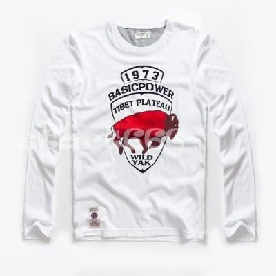 メンズ Tシャツ 長袖 プリント カットソー インナー 秋 冬 カジュアル トップス 大きいサイズ アンダーウェア