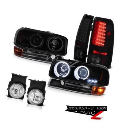 ヘッドライト 03 Sierra 2500HD CCFL HaloヘッドランプサテンブラックシグナルLEDテールライトバンパーフォグ 03 Sierr