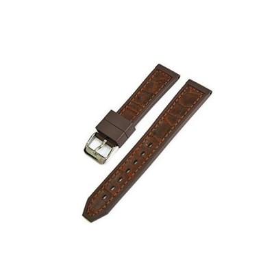 CASSIS[カシス] ラバー 時計ベルト 裏面防水素材 RUBANO ルバーノ 20mm ゴールドブラウン 交換用工具付き U000032