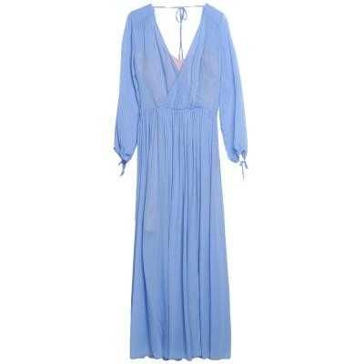 セミクチュール SEMICOUTURE ロングワンピース&ドレス アジュールブルー 38 レーヨン 100% ロングワンピース&ドレス