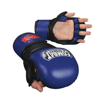 (Large, Blue-Black) - Combat Sports MMA Safety Sparring Gloves