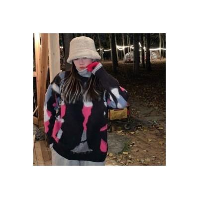 【送料無料】! 小 デザイン 感 セーター ヘッジ ニット オーバーサイズ 風 手厚い トップス   364331_A64179-2971717