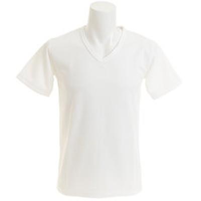 Tシャツ メンズ ワッフルVネック 半袖 CH24M027 WHT