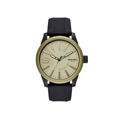 Diesel メンズ Rasp NSBB 3針ブラックシリコン腕時計 DZ1875