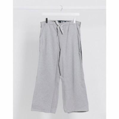 ブレイブソウル Brave Soul レディース ボトムス・パンツ キュロット ワイドパンツ wide leg culottes with elasticated waist in grey