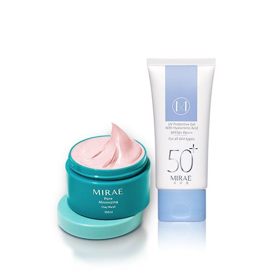 【未來美】毛孔速淨泥膜+肌本保濕防曬水凝乳