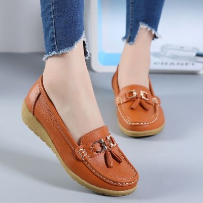 レディース レザー製 靴 シューズ レディース ローヒール 歩きやすい カジュアル 快適 ソール1-3cm ぺたんこ ローファー 柔らかい 可愛 プレゼント