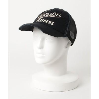 atmos pink / VANSON DAMAGE MESH CAP-1 MEN 帽子 > キャップ