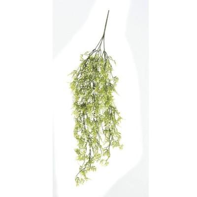 造花 アスカ ティーリーフハンギングブッシュ クリームグリーン A-42510-053A 造花葉物 ティーリーフ
