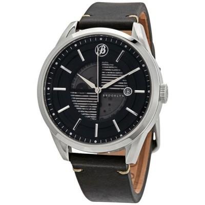 腕時計 ブルックリンウォッチ Brooklyn Watch Co. Automatic Black Dial Watch 8353A1
