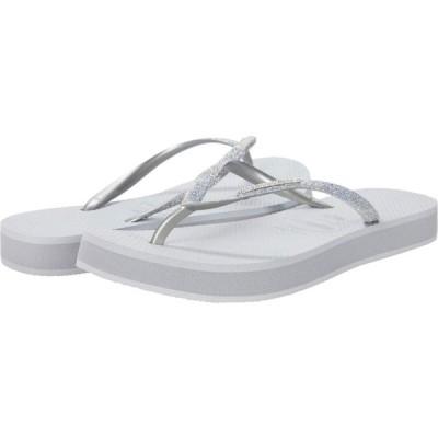ハワイアナス Havaianas レディース スリッポン・フラット 厚底 シューズ・靴 Slim Flatform Shine Ice Grey