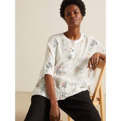 キン シャツ レディース トップス Kin Doshida Print Shirt, White/Multi