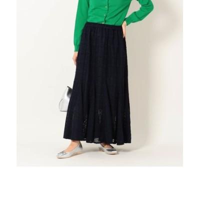SHIPS any:ニットレーススカート