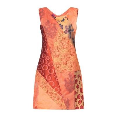 SAVE THE QUEEN ミニワンピース&ドレス オレンジ S ポリエステル 80% / コットン 11% / ナイロン 6% / レーヨン 3