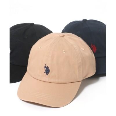 Salong hameu / U.S. POLO ASSN.◆ワンポイントロゴ刺繍ローキャップ WOMEN 帽子 > キャップ