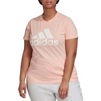 アディダス シャツ トップス レディース adidas Women's Plus Size Badge of Sport Cotton Tee HazeCoral