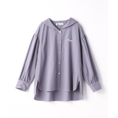 【179/WG ニコルクラブ】 セーラーシャツ レディース 60ブルー 38(M) 179/WG NICOLE CLUB