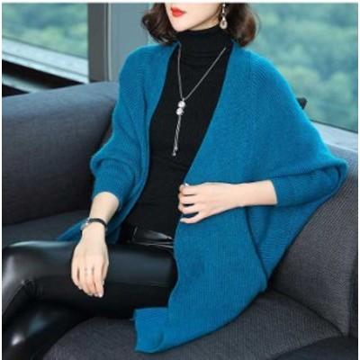 予約商品 大きいサイズ レディース ロング ニットカーディガン ニットボレロ オーバーサイズ 韓国ファッション ビッグサイズ LL 3L 4L 5L