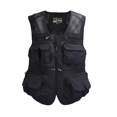 Tongcamo Outdoor Fly Fishing Vest with Multi-Pockets for Fishing, Hiking, Climbing, River Rafting, Hunting「並行輸入品」