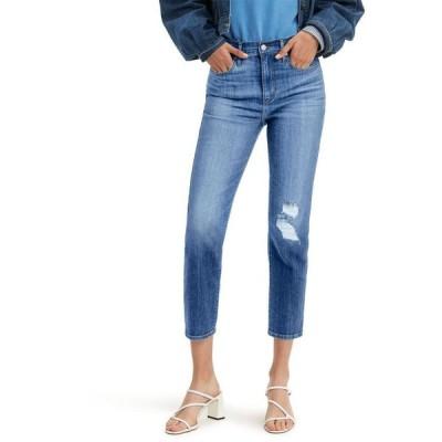 リーバイス レディース デニムパンツ ボトムス Women's 724 Straight-Leg Cropped Jeans