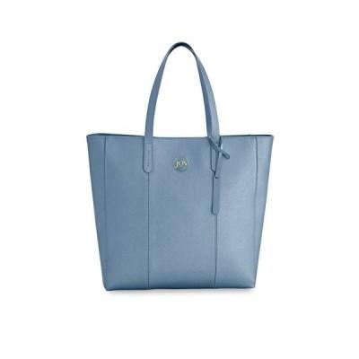 Joy Mangano Metallic Leather Tote, Steel Blue 並行輸入品