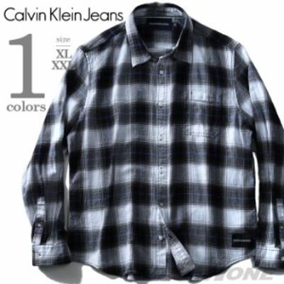 【大きいサイズ】【メンズ】CALVIN KLEIN JEANS(カルヴァンクラインジーンズ) 長袖チェックシャツ【USA直輸入】41j9124