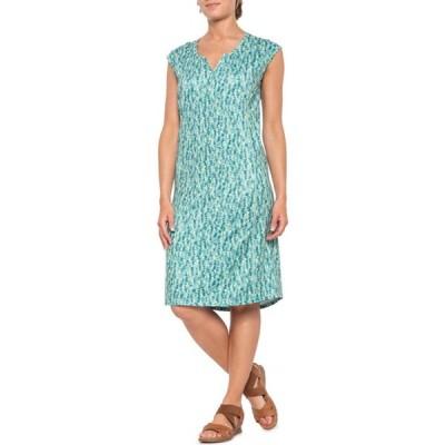 シムス Simms レディース ワンピース ノースリーブ ワンピース・ドレス Drifter Dress - UPF 50+, Sleeveless Coastal Print Aqua