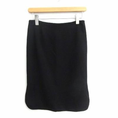 【中古】未使用品 ミューズ MUSE スカート ひざ丈 タイト 36 黒 ブラック /NT12 レディース