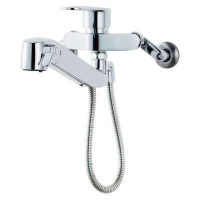 LIXIL(リクシル) INAX キッチン用 壁付浄水器内蔵シングルレバー混合水栓 ハンドシャワー付 エコハンドル 凍結防止水抜き仕様 RJF-865YN