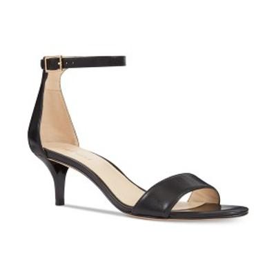 ナインウェスト レディース パンプス シューズ Leisa Two-Piece Kitten Heel Sandals Black Leather
