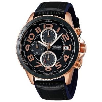 【正規品】Angel Clover エンジェルクローバー 腕時計 MOS44PBK-BK メンズ MONDO SOLAR モンドソーラー クロノグラフ