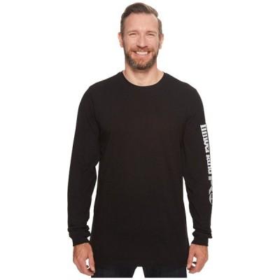 ティンバーランド シャツ トップス メンズ Base Plate Blended Long Sleeve T-Shirt with Logo - Tall Jet Black